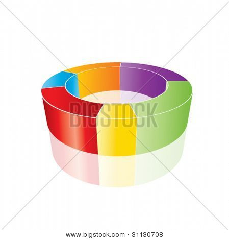 Conceptual business earnings charts in editable vector format