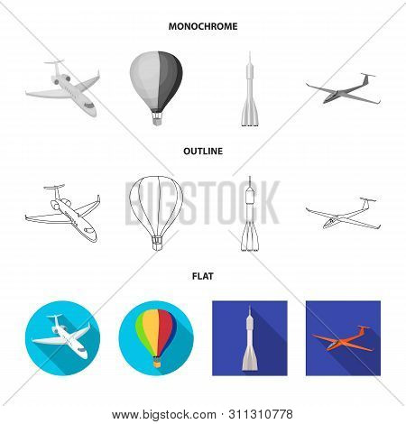 Isolated Object Of Transport And Object Logo. Collection Of Transport And Gliding Vector Icon For St
