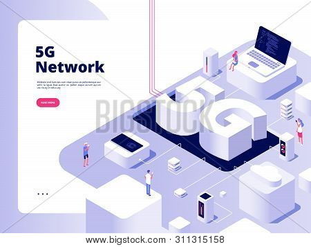 5g Concept. Wifi Telecom 5g Technology Speed Internet Broadband Fifth Hotspots Wifi Global Network T