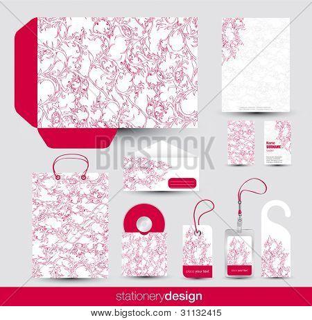 Stationery design set in editable vector format