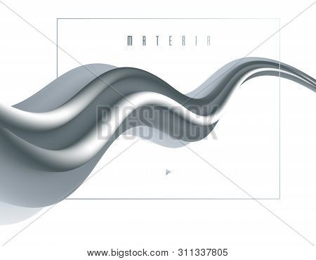 Abstract Colorful Fluid Vector Background, Dimensional Gradient Shape Element For Design, Flowing 3d