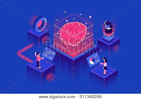 Machine Learning, Artificial Intelligence, Ai, Deep Learning Blockchain Neural Network Concept. Digi