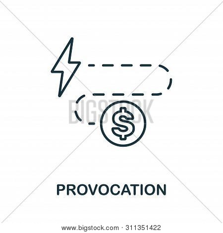 Provocation Icon. Thin Outline Style Design From Corruption Icons Collection. Creative Provocation I