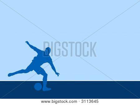 Stricker Silhouette 1B - Kicking A Soccer Ball