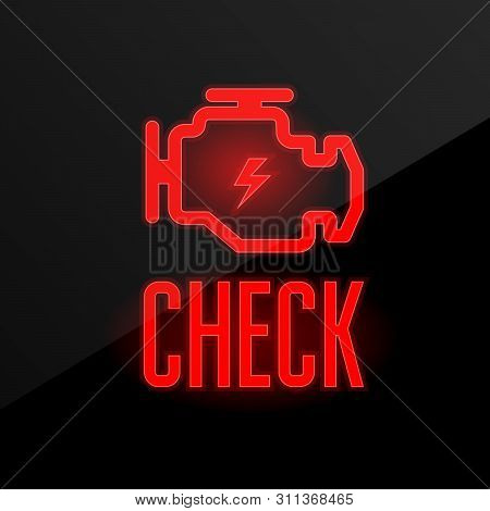 Check Engine Icon - Blinking Indicator On Dashboard, Breakdown Alert
