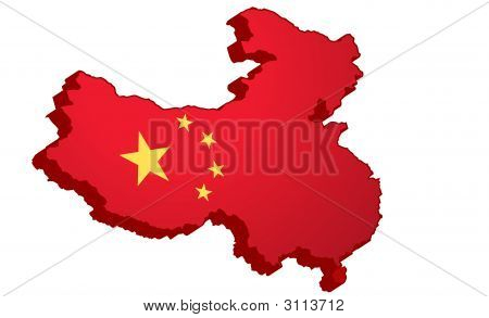 Chinese Map In 3D