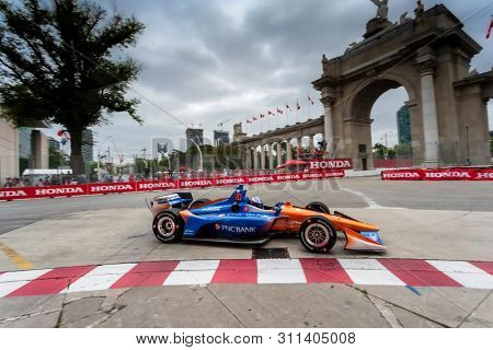 July 12, 2019 - Toronto, Ontario, CAN: SCOTT DIXON (9) of New Zealand practices for the Hondy Indy Toronto at Streets of Toronto in Toronto, Ontario.