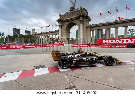 July 12, 2019 - Toronto, Ontario, CAN: MARCUS ERICSSON (7) of Sweden  practices for the Hondy Indy Toronto at Streets of Toronto in Toronto, Ontario.