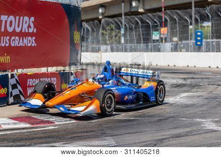 July 13, 2019 - Toronto, Ontario, CAN: SCOTT DIXON (9) of New Zealand practices for the Hondy Indy Toronto at Streets of Toronto in Toronto, Ontario.