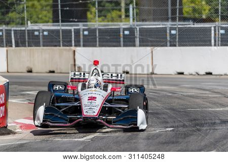July 13, 2019 - Toronto, Ontario, CAN: JOSEF NEWGARDEN (2) of the United States practices for the Hondy Indy Toronto at Streets of Toronto in Toronto, Ontario.