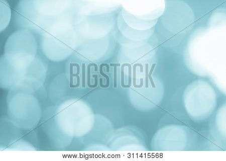 Abstract Blue Bokeh With Soft Blurred Background Nature Blurry Light Party In Vintage Style Warm Pas