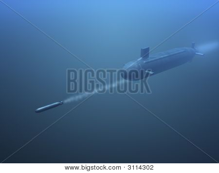 3D Submarine Shooting  Missle
