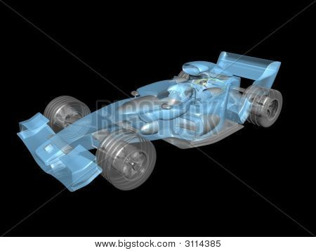 3D Transparent Race Car