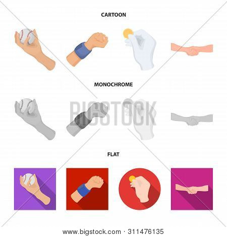 Vector Illustration Of Animated And Thumb Icon. Set Of Animated And Gesture Vector Icon For Stock.