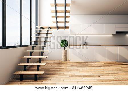 Modern Loft Kitchen Interior