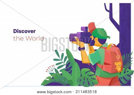 Discover The World.travel Explore, Discover And Trip To World. Photographer Taking Pictures In The M