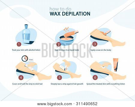 Waxing Leg Instruction. Hair Removal With Wax