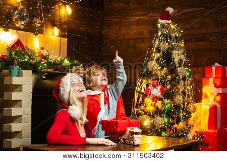 Happy Family. Family Holiday. Mother And Little Child Boy Adorable Friendly Family Having Fun. Joy A