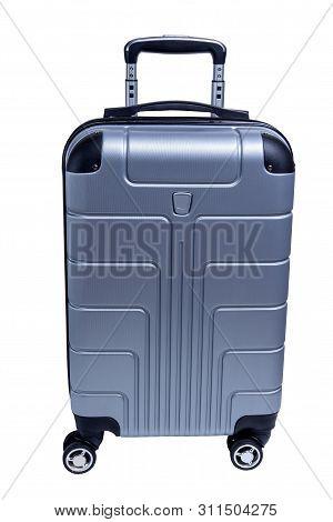 Luggage Bag. Travel Suitcase Isolated On White Background