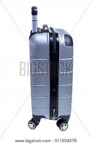 Suitcase Isolated On White Background. Travel Luggage Bag
