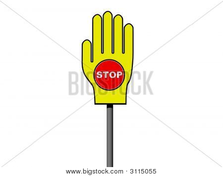 'Stop' In Palm Sign