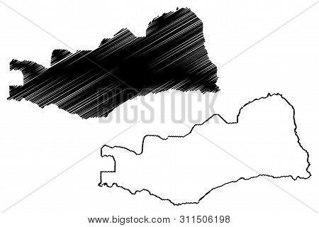 Lusaka Province (provinces Of Zambia, Republic Of Zambia) Map Vector Illustration, Scribble Sketch L