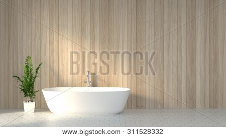 Minimalist Clean Bathroom Scandinavian Design Style 3d Rendering,interior Decoration Of The Bathroom