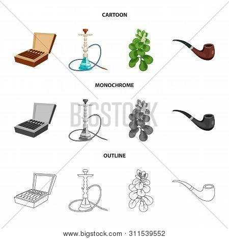 Vector Design Of Refuse And Stop Symbol. Set Of Refuse And Habit Stock Vector Illustration.