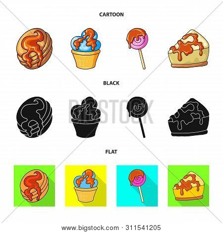Isolated Object Of Confectionery And Culinary Logo. Collection Of Confectionery And Product Stock Sy