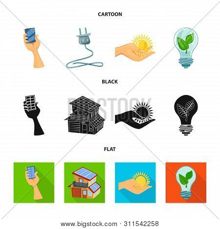 Vector Illustration Of Innovation And Technology Sign. Collection Of Innovation And Nature Stock Vec
