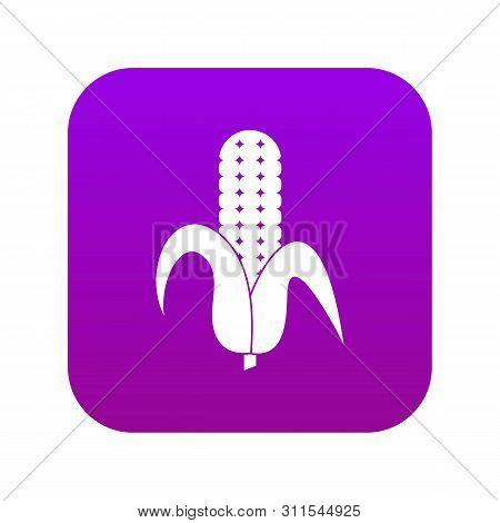 Corncob Icon Digital Purple For Any Design Isolated On White Vector Illustration