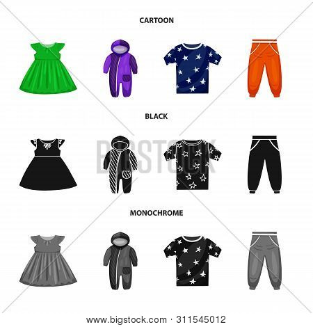 Isolated Object Of Fashion And Garment Icon. Set Of Fashion And Cotton Stock Symbol For Web.