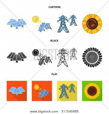 Vector Design Of Innovation And Technology Symbol. Set Of Innovation And Nature Vector Icon For Stoc