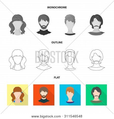 Vector Illustration Of Professional And Photo Sign. Collection Of Professional And Profile Vector Ic