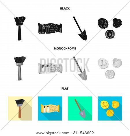 Vector Design Of Story And Items Icon. Set Of Story And Attributes Stock Vector Illustration.