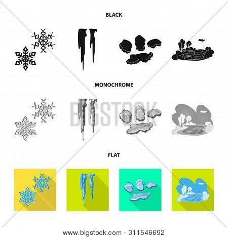 Isolated Object Of Texture And Frozen Symbol. Collection Of Texture And Transparent Stock Vector Ill