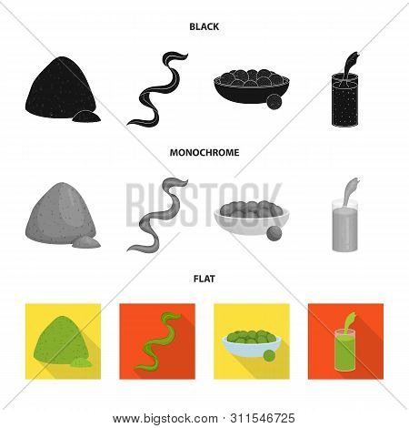Vector Design Of Protein And Sea Logo. Set Of Protein And Natural Vector Icon For Stock.