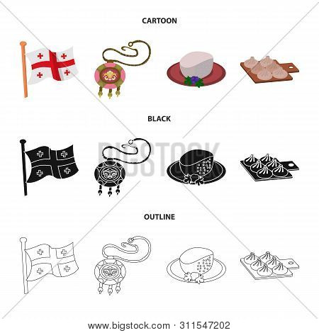 Isolated Object Of Culture And Sightseeing Symbol. Set Of Culture And Originality Stock Symbol For W