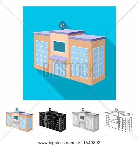 Vector Design Of School And University Icon. Set Of School And Ecological Stock Symbol For Web.