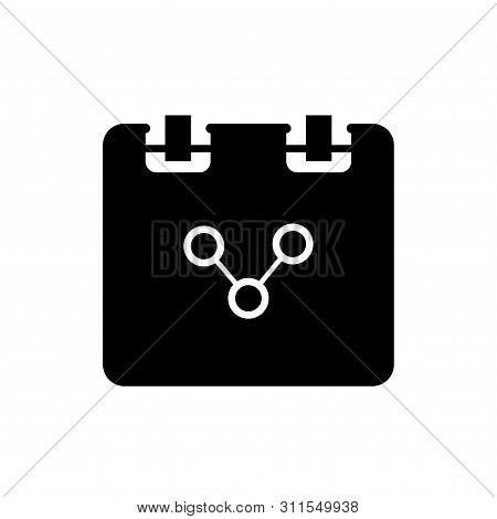 Lat Linear Design. Notepad Icon For Applications, Web Sites. Scientists Work Pad Or Note Pad With Sc