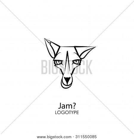 Cartoon Character Of An Animal - A Rodent. The Head Of A Funny Tough Fox. Sly Rogue Grimaces. Concep