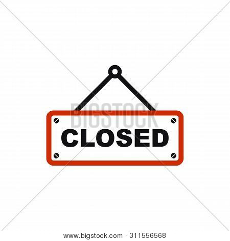 Closed Icon Vector Isolated On White Background. Closed Icon Simple Sign. Closed Icon Flat Vector Il