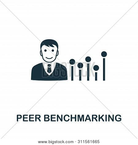 Peer Benchmarking Vector Icon Symbol. Creative Sign From Business Management Icons Collection. Fille