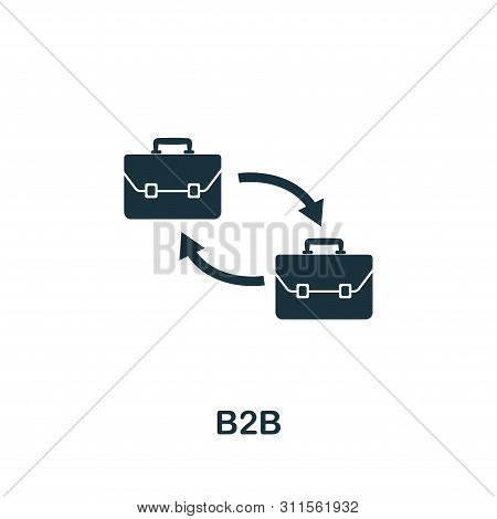 B2b Vector Icon Symbol. Creative Sign From Business Management Icons Collection. Filled Flat B2b Ico