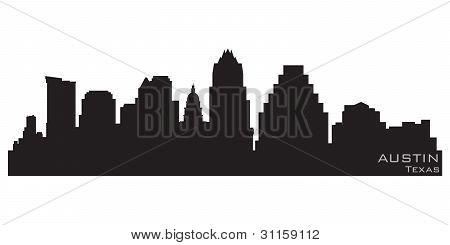 Austin, Texas Skyline. Detailed Vector Silhouette