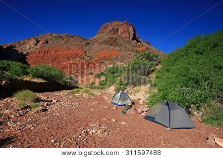The Hance Rapids campsite in Grand Canyon National Park, Arizona. poster