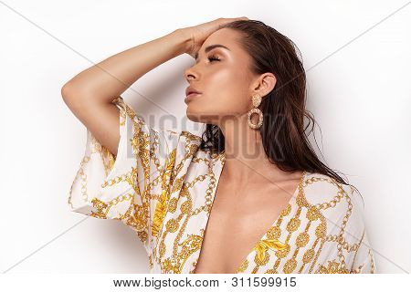 Fashion Portrait Of Elegant Woman.