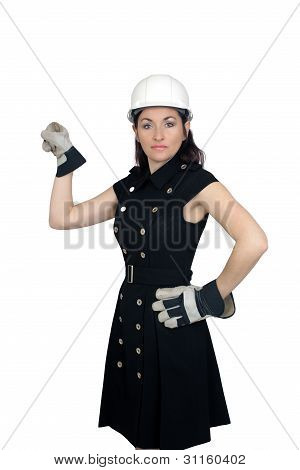 Beautiful Female Construction Worker (4)