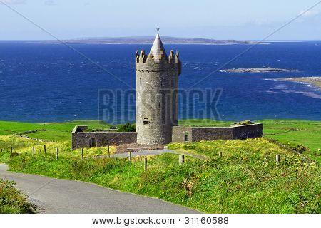 Doonagore castle near Doolin, Co. Clare, Ireland