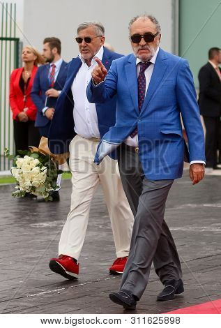 Bucharest, Romania - July 15, 2019: The Former Glories Of Tennis Ilie Nastase And Ion Tiriac Awaitin